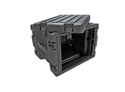 SKB 19 inch 8 Unit Rolling Rack Case. 483mm Rack Depth