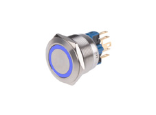 Anti-Vandal Switch 22mm 24V Blue