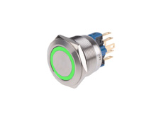 Anti-Vandal Switch 22mm 24V Green