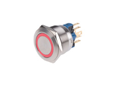 Anti-Vandal Switch 22mm 24V Red