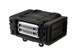 SKB 19 inch 4 Unit Deep Shock Rack. 610mm Rack Depth
