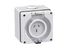 3 Pin 10A 240V Fixed Socket