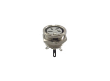 4 Pole Din Panel Mont Socket Bright Nickel