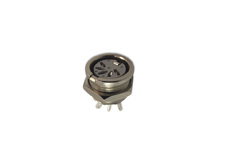 5 Pole 45 degree Din Panel Mont Socket Bright Nickel