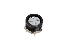 3 Pole Din Panel Mont Socket Black