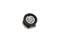 6 Pole Din Panel Mont Socket Black