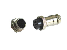 6 pin metal panel mount plug and inline socket (pair)