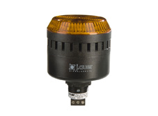 ELG Amber 65mm M22 Steady/Flashing Beacon and Audio Alarm. 24V AC/DC