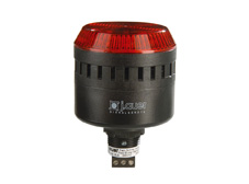 ELG Red 65mm M22 Steady/Flashing Beacon and Audio Alarm. 24V AC/DC
