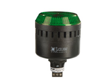 ELG Green 65mm M22 Steady/Flashing Beacon and Audio Alarm. 24V AC/DC