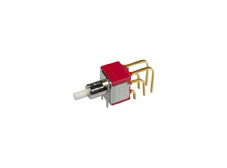 Miniature Snap-acting Pushbutton Switch Double Pole Double Throw, On-(On)