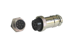 8 pin metal panel mount plug and inline socket (pair)
