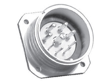 4+11 pin Panel mount plug without locking ring CEEP Series 92 Circular connector  (Nickel)