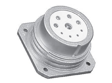 3 pin Panel mount socket without locking ring CEEP Series 92 Circular connector  (Nickel)