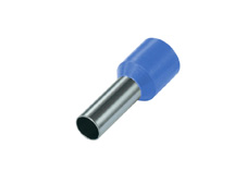 0.75mm² Single wire ferrules, Light Blue (Pack = 100 pcs)