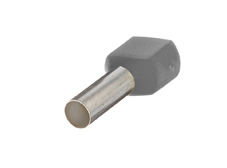 2.5mm² Twin wire ferrules, Grey (Pack = 100 pcs)
