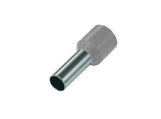 2.5mm² Single wire ferrules, Grey (Pack = 100 pcs)