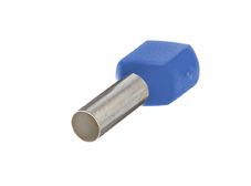 0.75mm² Twin wire ferrules, Blue (Pack = 100 pcs)