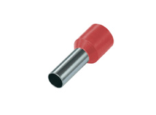 1mm² Single wire ferrules, Red (Pack = 100 pcs)