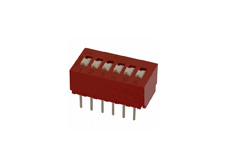 DIP Switch, 6 Position, PCB Vertical Mount