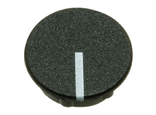Black cap with line, 21mm diameter