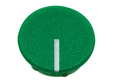 Green cap with line, 10mm diameter