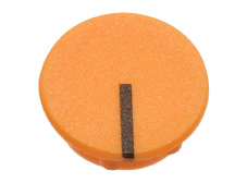 Orange cap with line, 21mm diameter