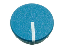 Blue cap with line, 21mm diameter