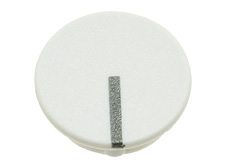 White cap with line, 11mm diameter