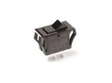 Rocker Switch, On-Off, SPDT, Black, Snap in