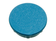 Blue cap, 21mm diameter