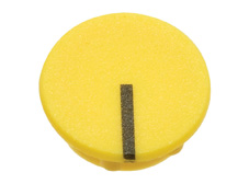 Yellow cap with line, 15mm diameter