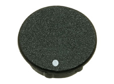 Black cap with spot, 15mm diameter