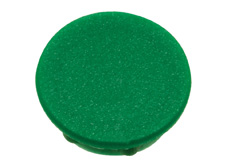 Green cap, 21mm diameter