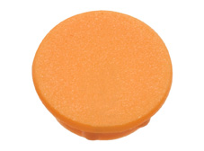 Orange cap, 21mm diameter
