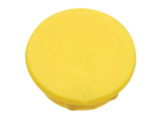 Yellow cap, 21mm diameter