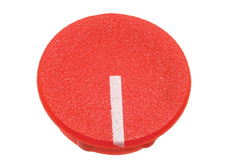 Red cap with line, 21mm diameter