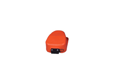 Plastisol PVC Protective Boot in Orange for Clipper Footswitch