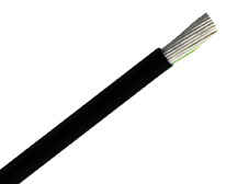 Flexible PVC Control Cable, 2 core + earth 0.5, 300/500V, Black