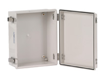 DSE Hi Box 275mm x 225mm x 120mm Steel Draw Latch Enclosure Grey ABS Base & Lid.