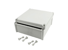 DSE Hi Box 280mm x 280mm x 130mm Enclosure Grey ABS Plastic  Body and Lid