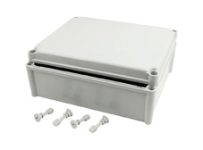 DSE Hi Box 340mm x 280mm x 130mm Enclosure Grey ABS Plastic  Body and Lid