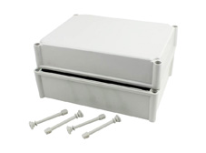 DSE Hi Box 280mm x 380mm x 180mm Enclosure Grey ABS Plastic  Body and Lid