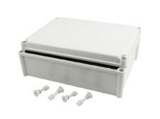 DSE Hi Box 280mm x 380mm x 130mm Enclosure Grey ABS Plastic  Body and Lid