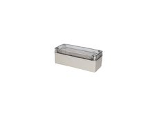 DSE Hi Box 180mm x 80mm x 70mm Enclosure Grey ABS Base & Transparent Polycarbonate Lid