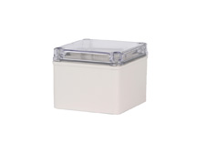 DSE Hi Box 100mm x 100mm x 100mm Enclosure Grey ABS Base & Transparent Polycarbonate Lid