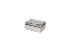DSE Hi Box 175mm x 125mm x 75mm Enclosure Grey ABS Base & Transparent Polycarbonate Lid