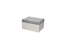 DSE Hi Box 200mm x 150mm x 100mm Enclosure Grey ABS Base & Transparent Polycarbonate Lid