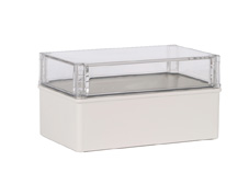 DSE Hi Box 250mm x 150mm x 130mm Enclosure Grey ABS Base & Transparent Polycarbonate Lid