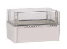 DSE Hi Box 250mm x 175mm x 100mm Enclosure Grey ABS Base & Transparent Polycarbonate Lid